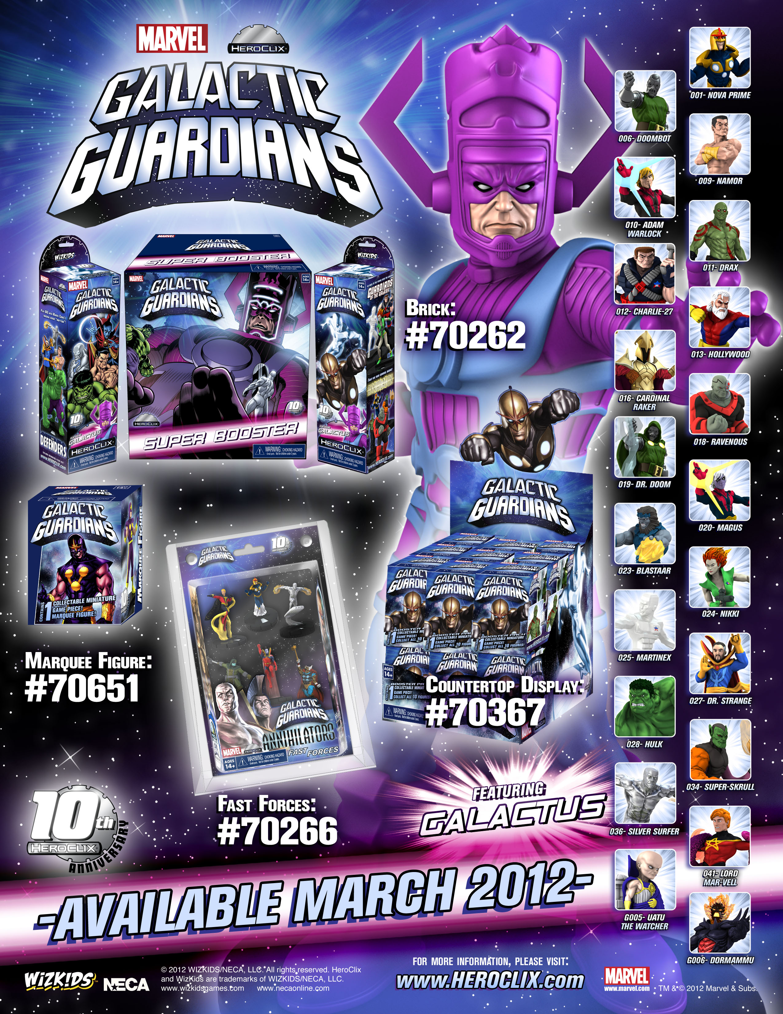 Heroclix Guardians of the Galaxy set Nova #031 Uncommon figure w//card!