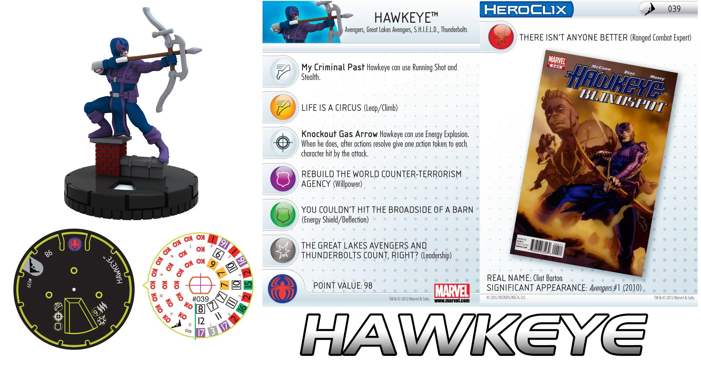 Heroclix Hawkeye