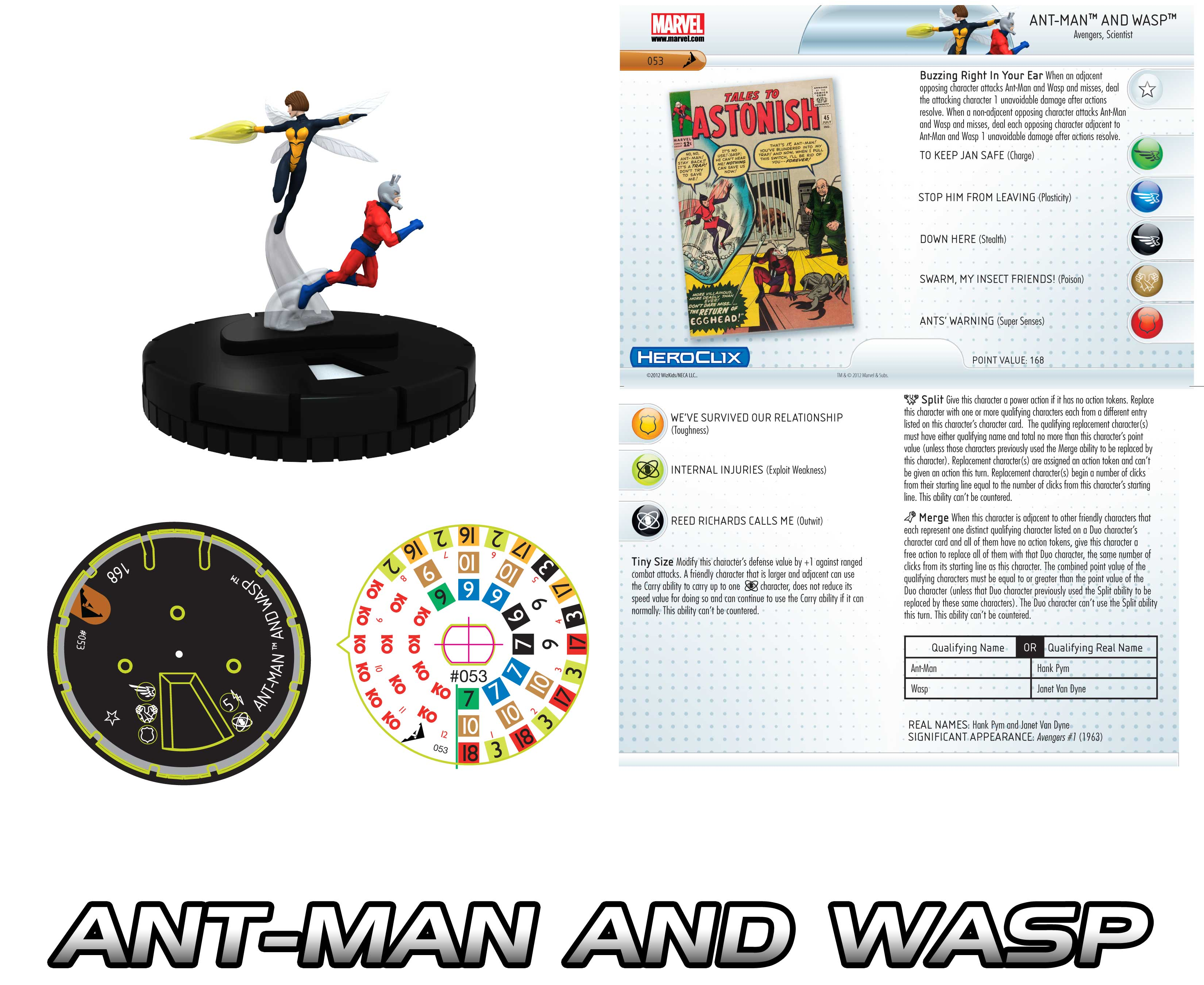 Heroclix Ant-Man and Wasp