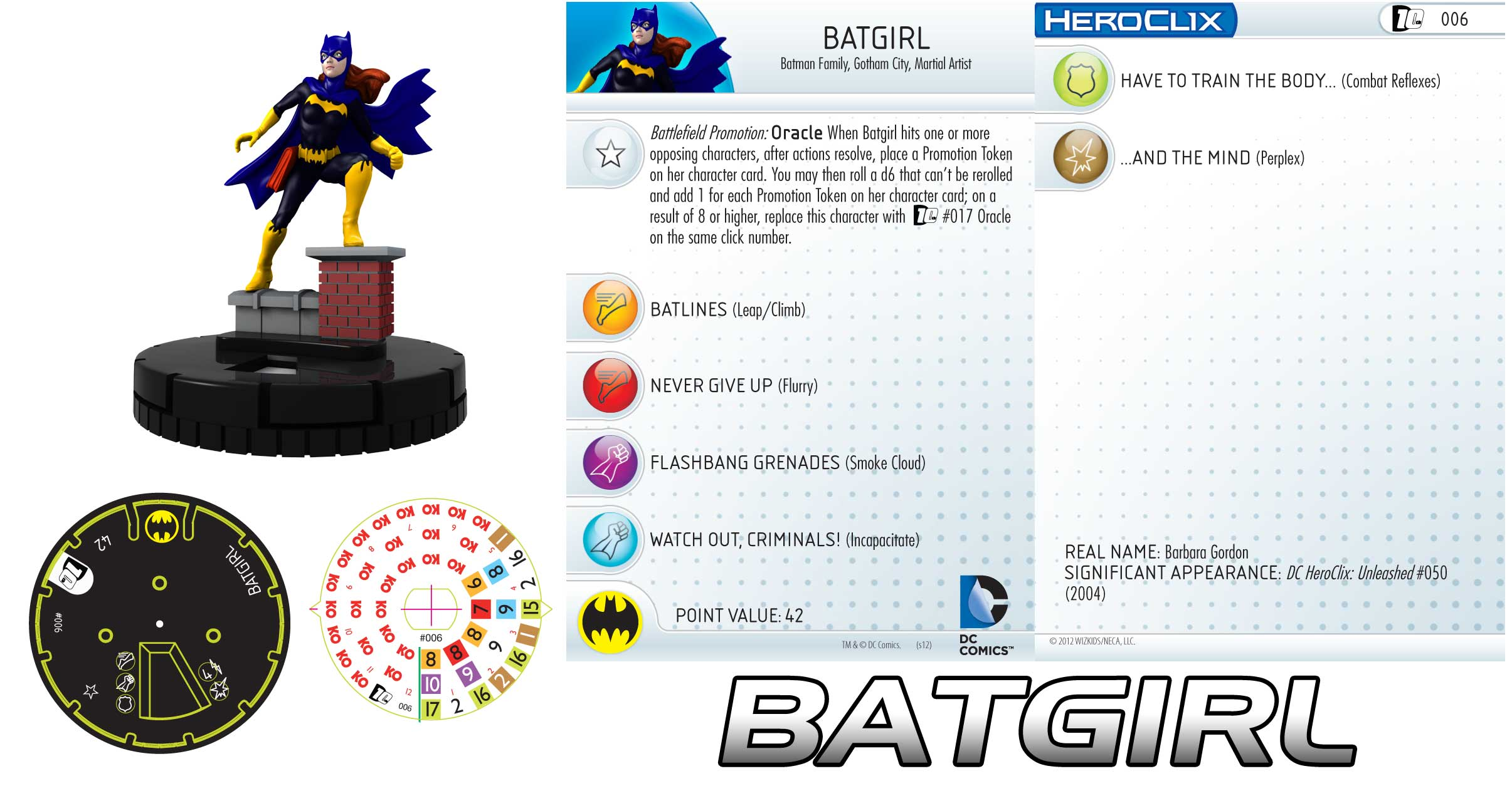 dc comics 10th anniversary batgirl is up! - heroclix realms