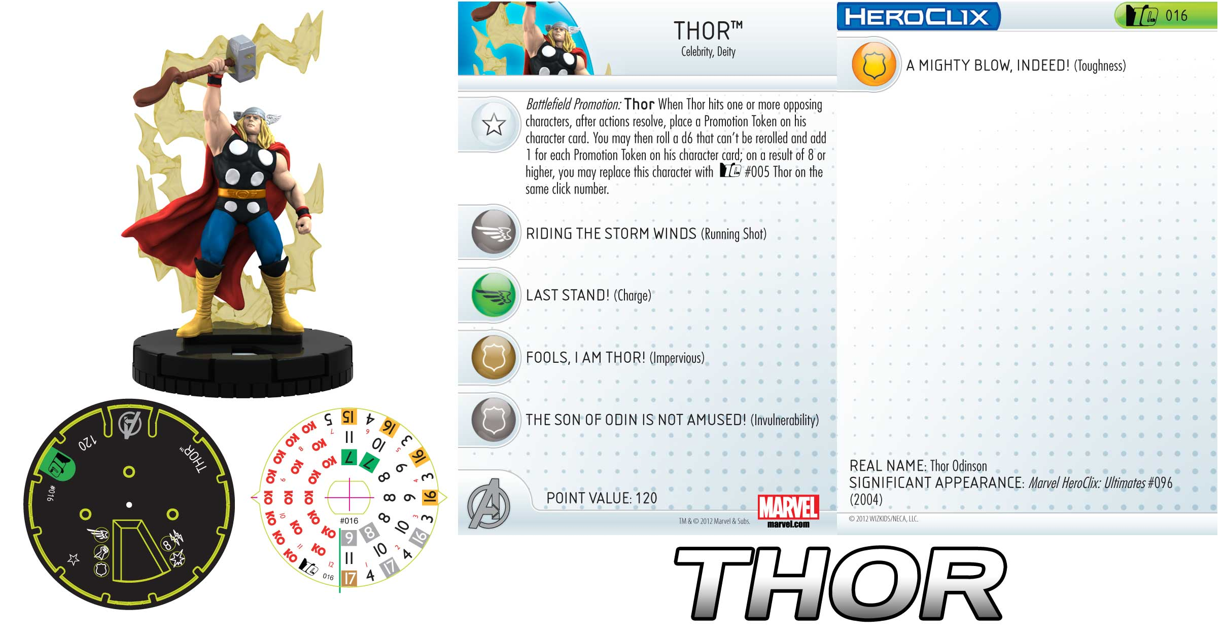 marvel 10th anniversary thor, god of thunder! - heroclix realms
