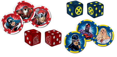 AvX Tokens and dice