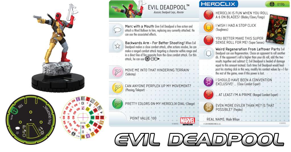 Marvel Heroclix Deadpool Evil Deadpool Heroclix Realms