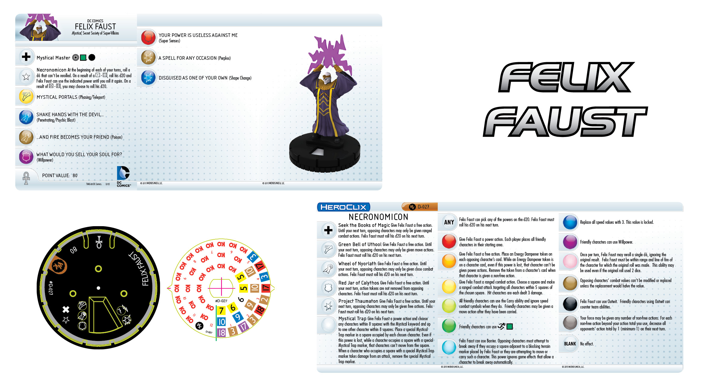 DC HeroClix: Felix Faust Convention Exclusive