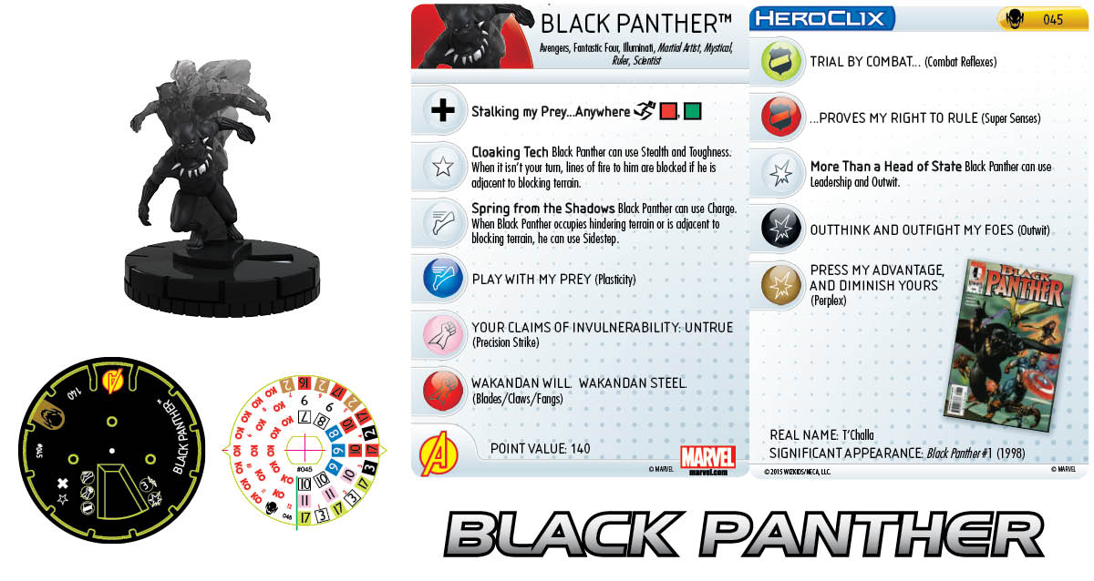 Marvel HeroClix: Age of Ultron SLOP- Black Panther