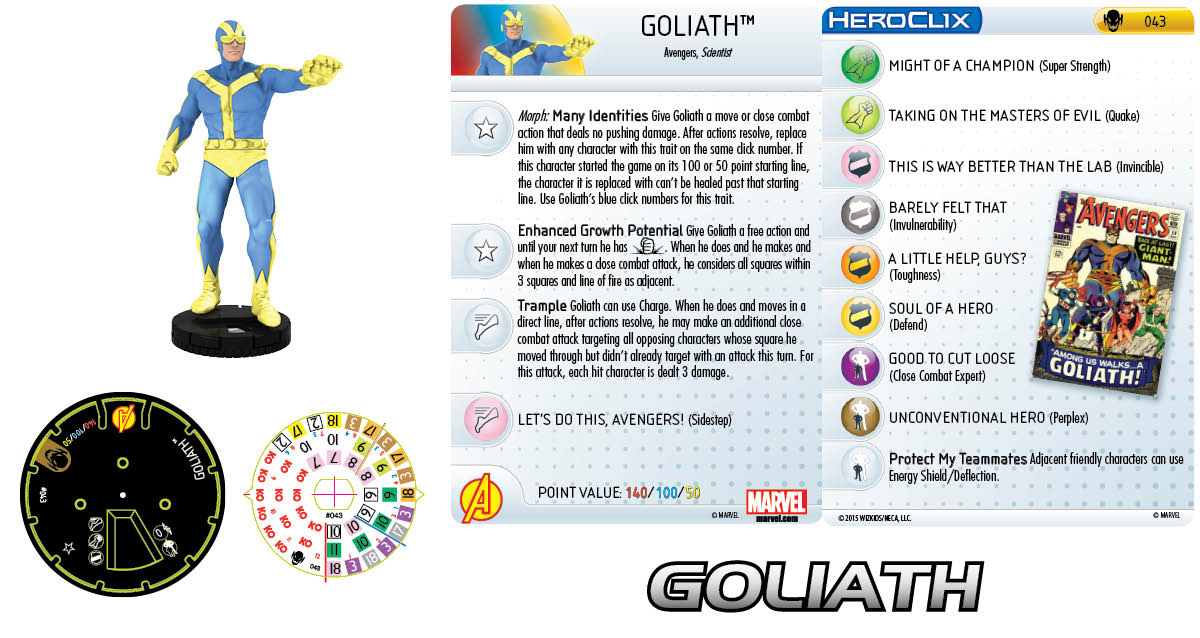 Marvel HeroClix: Age of Ultron SLOP- Goliath