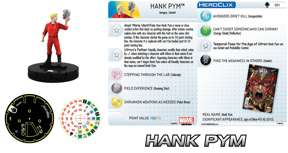 Marvel HeroClix: Age of Ultron SLOP- Hank Pym