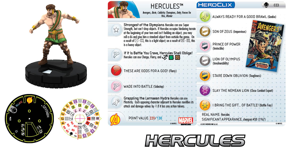 Marvel HeroClix: Age of Ultron SLOP- Hercules