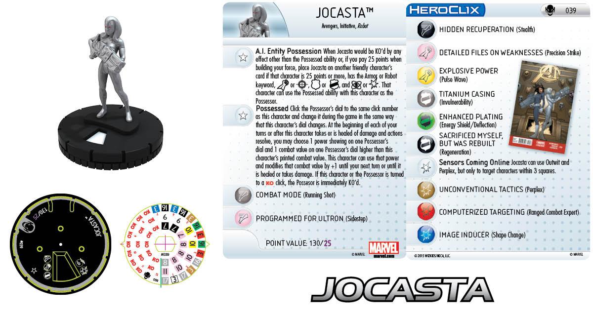 Marvel HeroClix: Age of Ultron SLOP- Jocasta