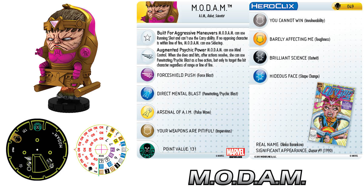 Marvel HeroClix: Age of Ultron SLOP- M.O.D.A.M