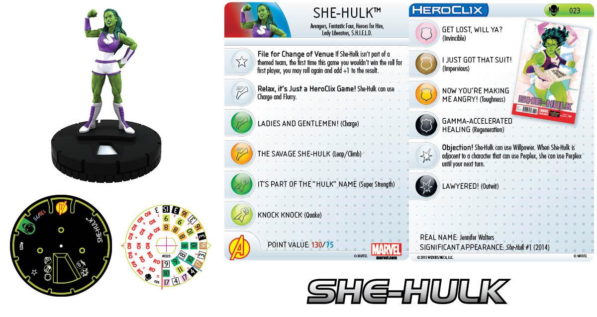 Marvel HeroClix: Age of Ultron Storyline OP She-Hulk