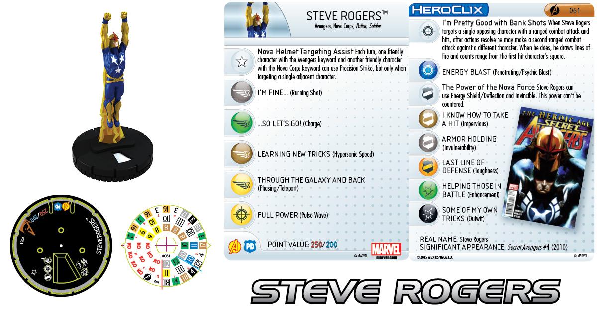 Marvel HeroClix: Avengers Assemble- Steve Rogers Chase