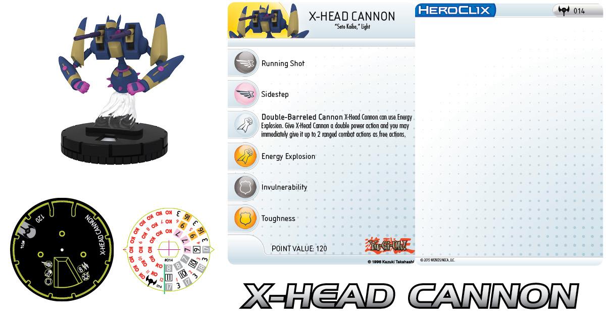 Yu-Gi-Oh! HeroClix: Series Three- X-Head Cannon