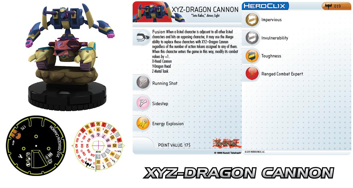 Yu-Gi-Oh! HeroClix: Series Three- XYZ-Dragon Cannon