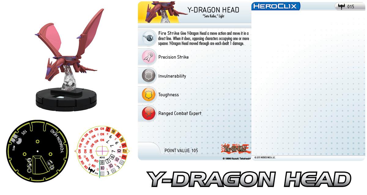 Yu-Gi-Oh! HeroClix: Series Three- Y-Dragon Head