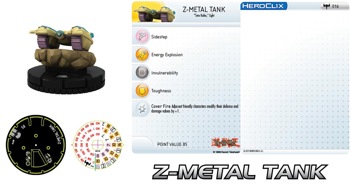 Yu-Gi-Oh! HeroClix: Series Three- Z-Metal Tank