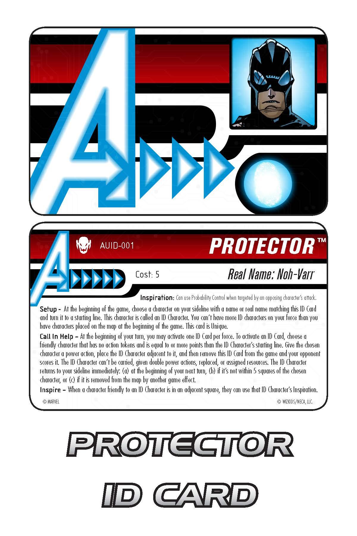 Marvel HeroClix: Avengers ID Card- Protector