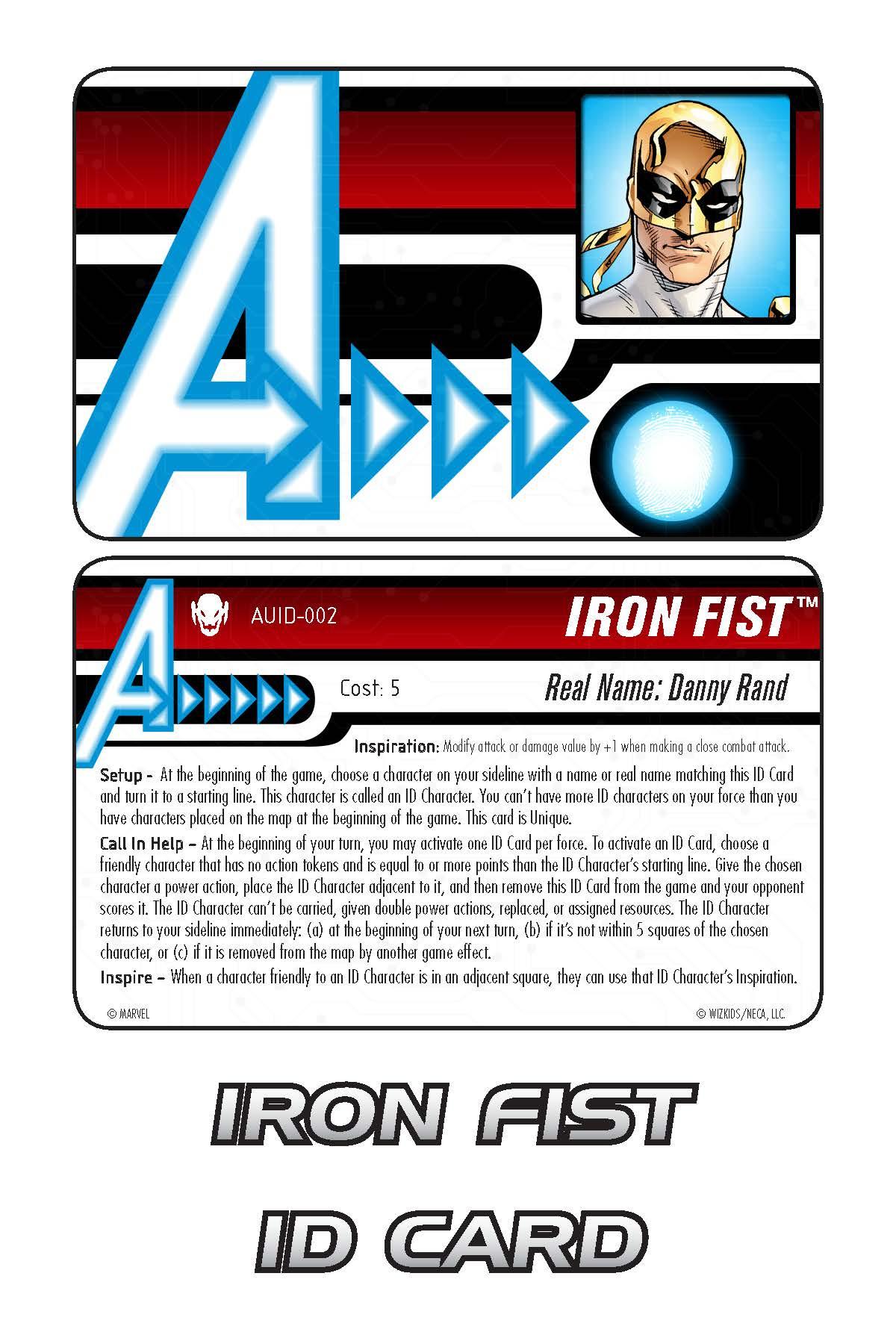 Marvel HeroClix: Avengers ID Card- Iron Fist
