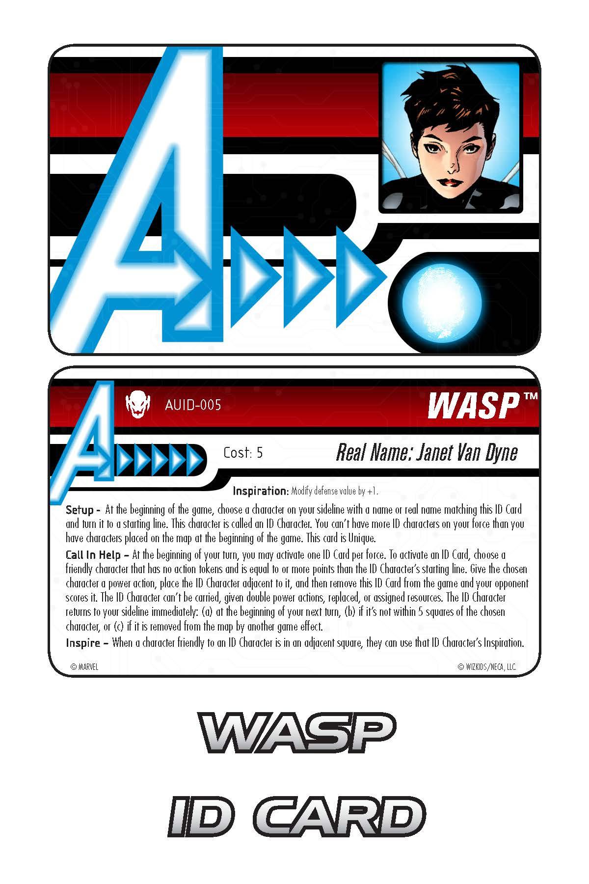 Marvel HeroClix: Avengers ID Card- Wasp