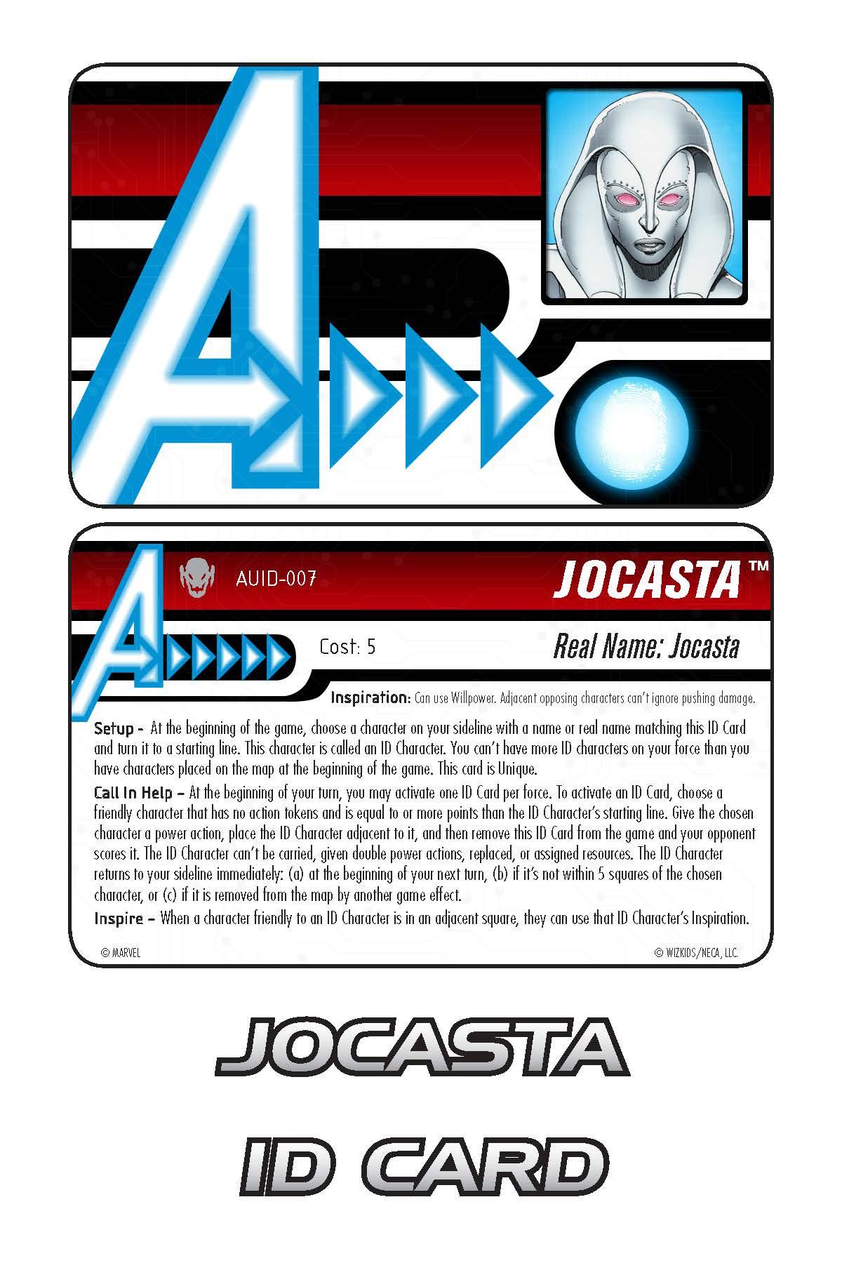 Marvel HeroClix: Avengers ID Card- Jocasta