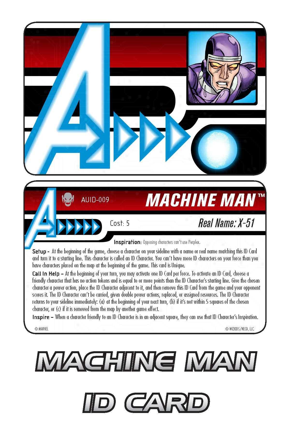 Marvel HeroClix: Avengers ID Card- Machine Man