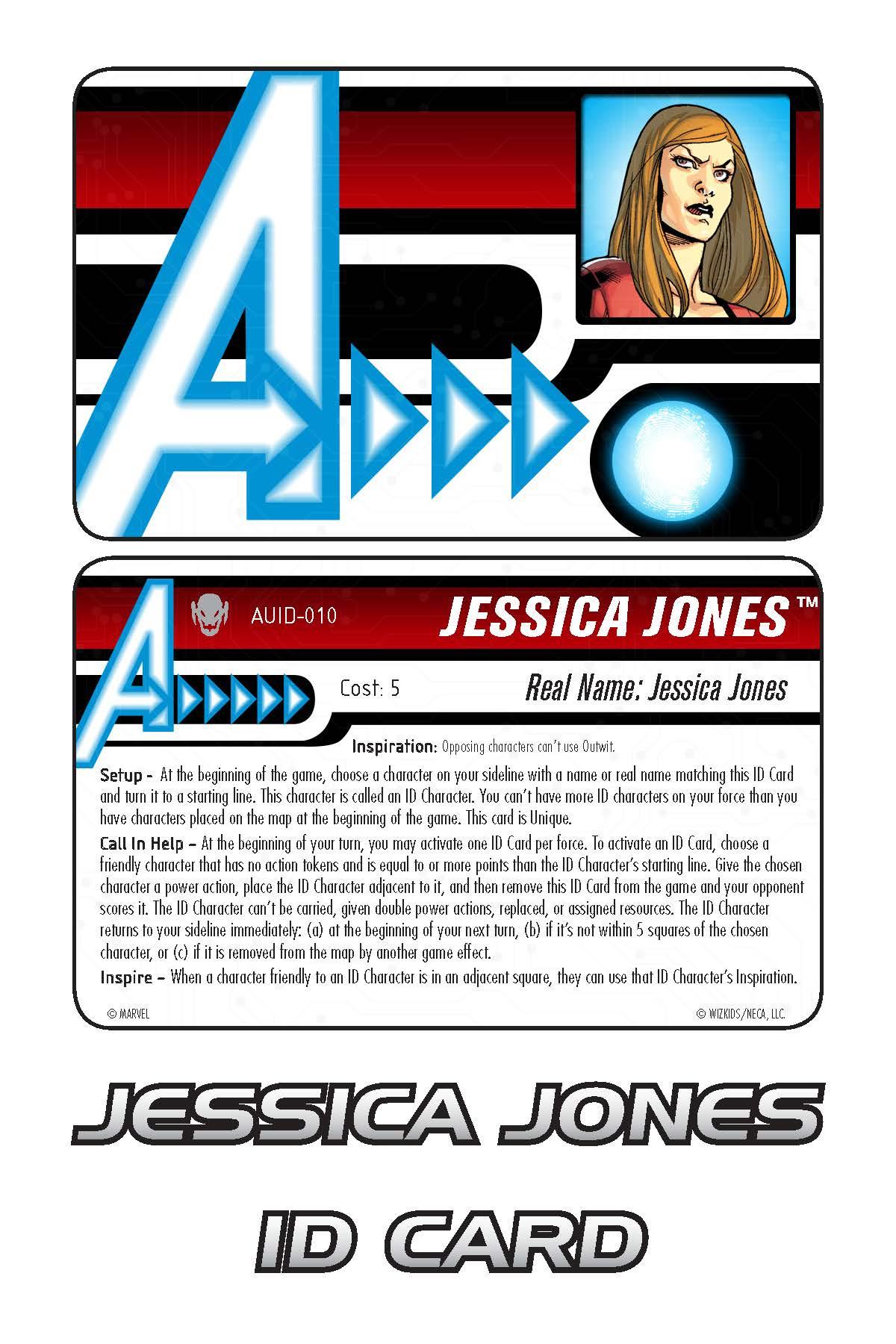 Marvel HeroClix: Avengers ID Card- Jessica Jones