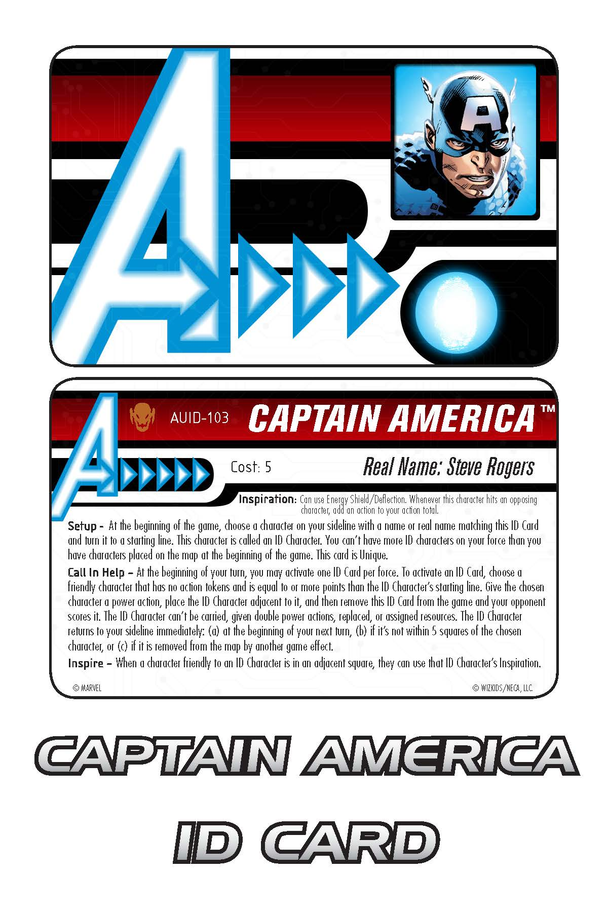 Marvel HeroClix: Avengers ID Card- Captain America
