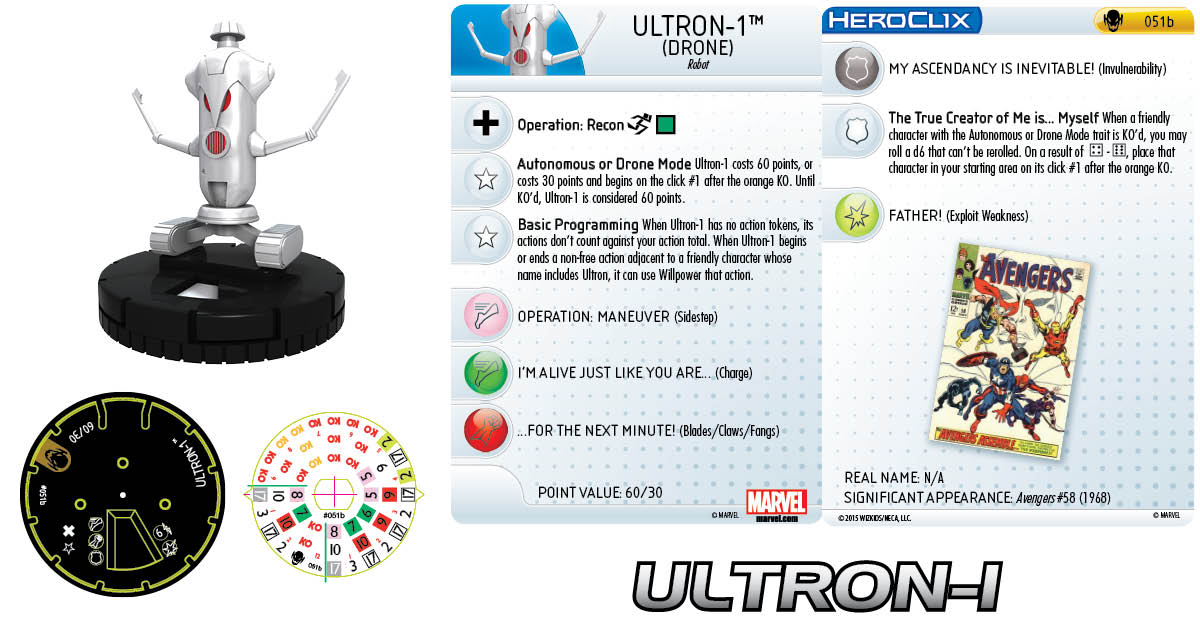 Marvel HeroClix: Age of Ultron SLOP- Ultron-1 Drone