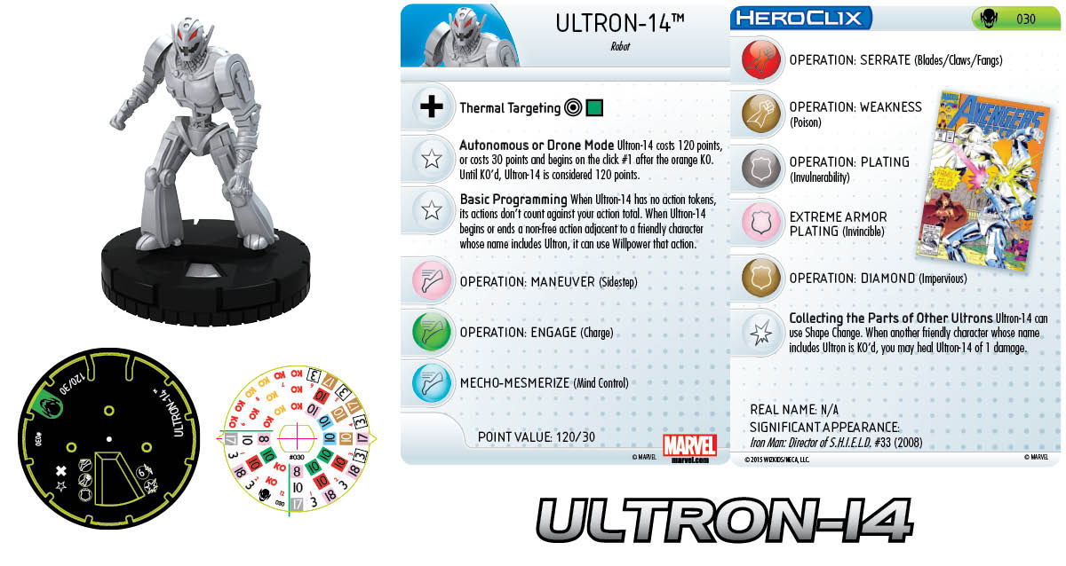 Marvel HeroClix: Age of Ultron- Ultron-14