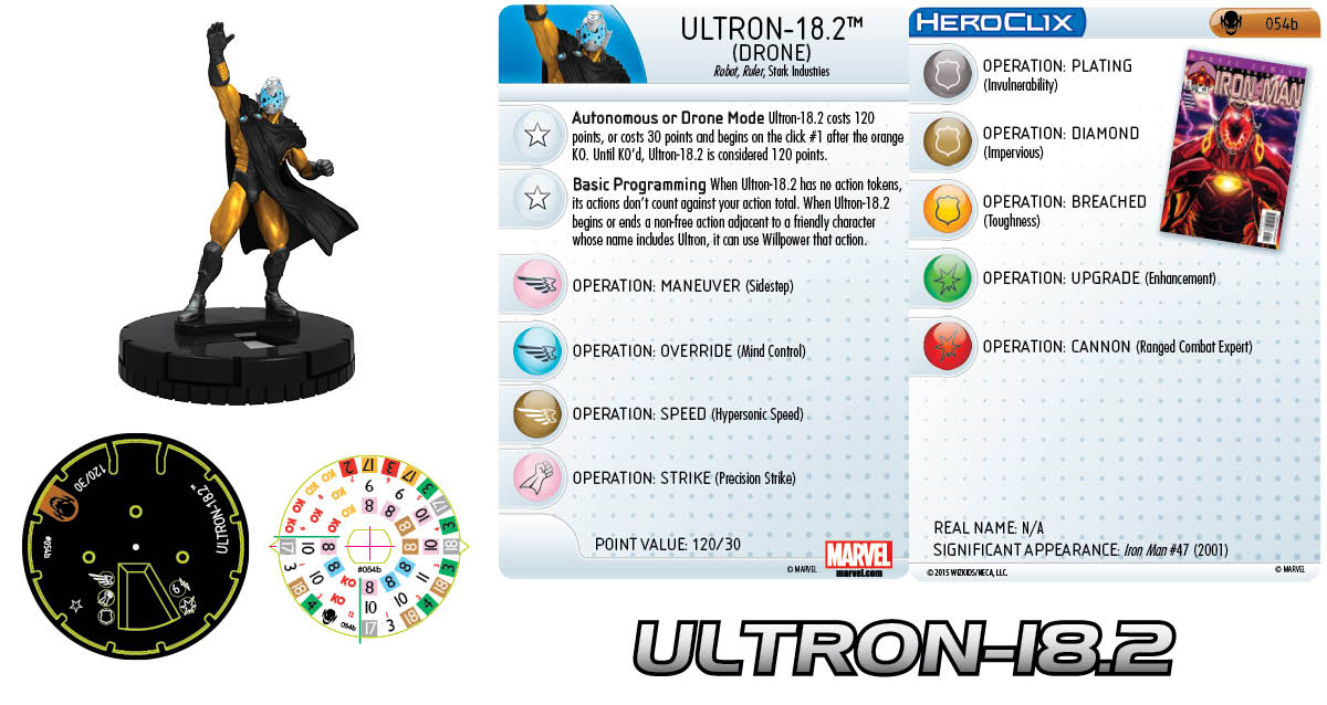 Marvel HeroClix: Age of Ultron- Ultron-18.2 Drone