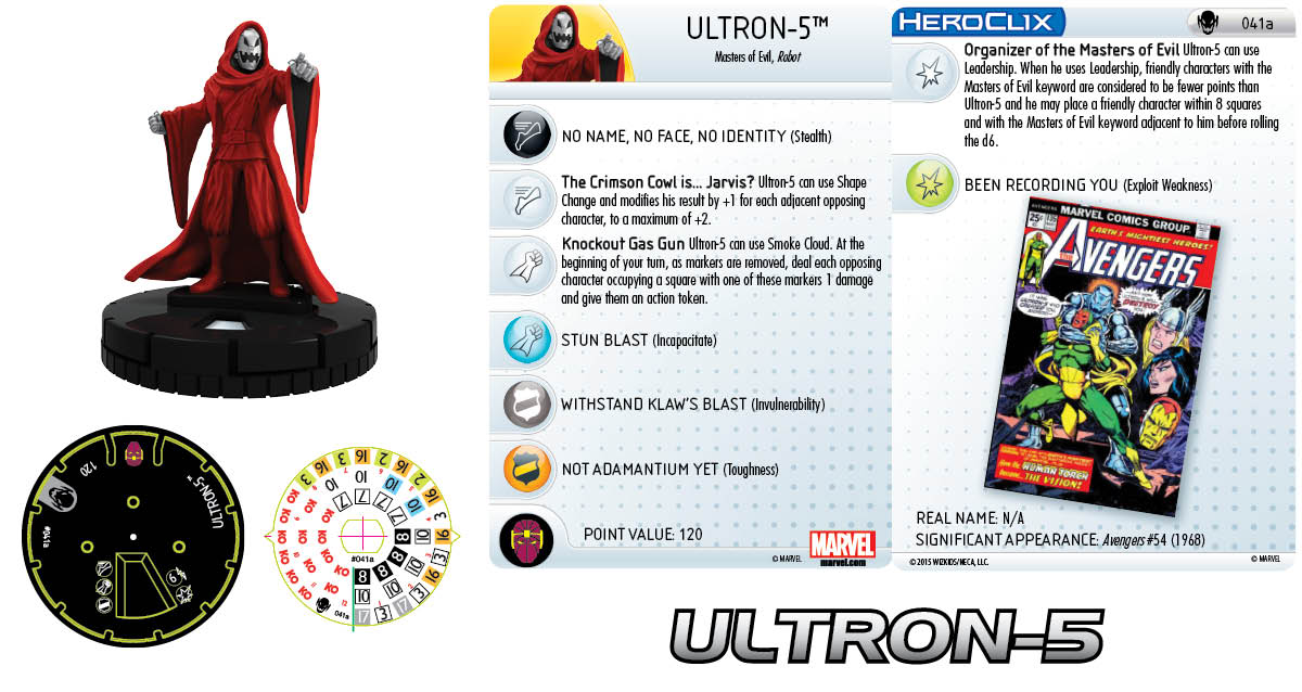 Marvel HeroClix: Age of Ultron SLOP- Ultron-5