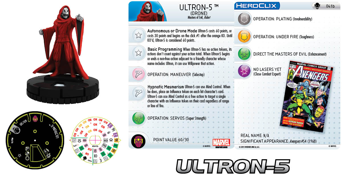 Marvel HeroClix: Age of Ultron SLOP- Ultron-5 Drone