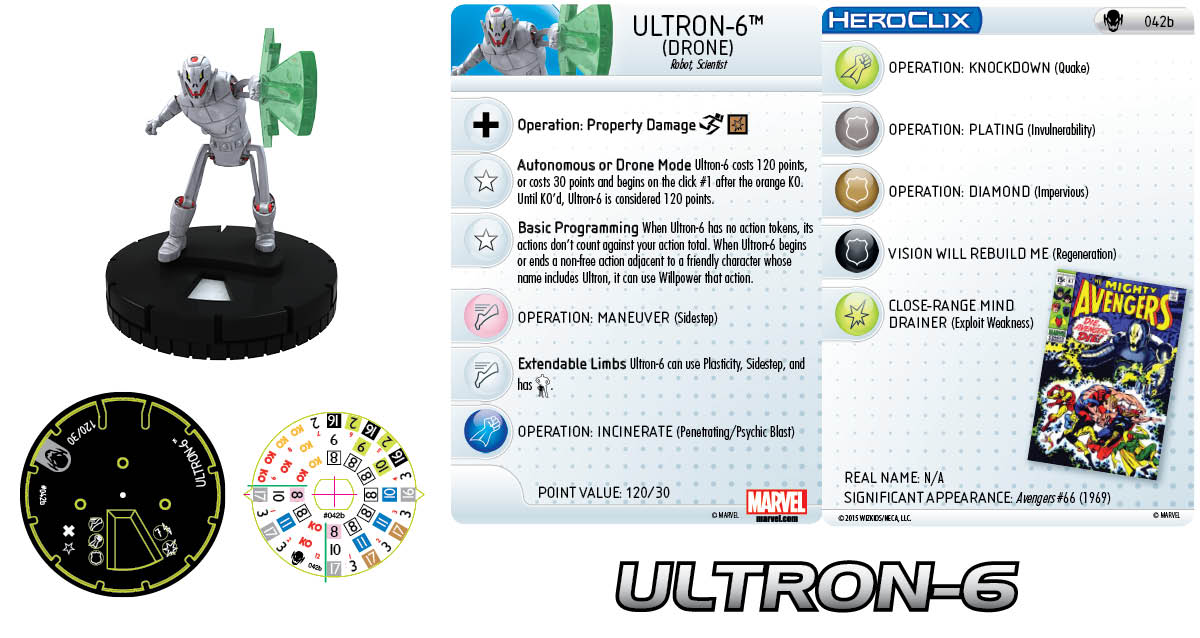 Marvel HeroClix: Age of Ultron SLOP- Ultron-6 Drone