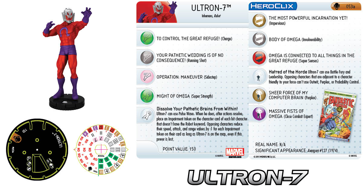 Marvel HeroClix: Age of Ultron SLOP- Ultron-7