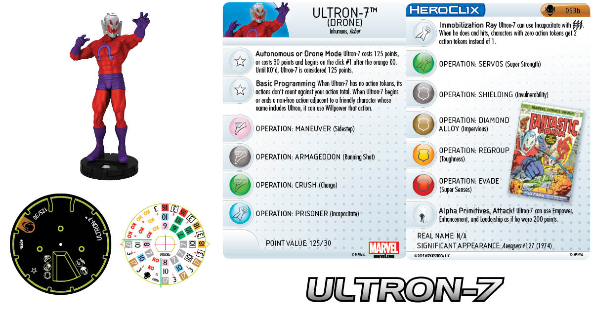 Marvel HeroClix: Age of Ultron SLOP- Ultron-7 Drone