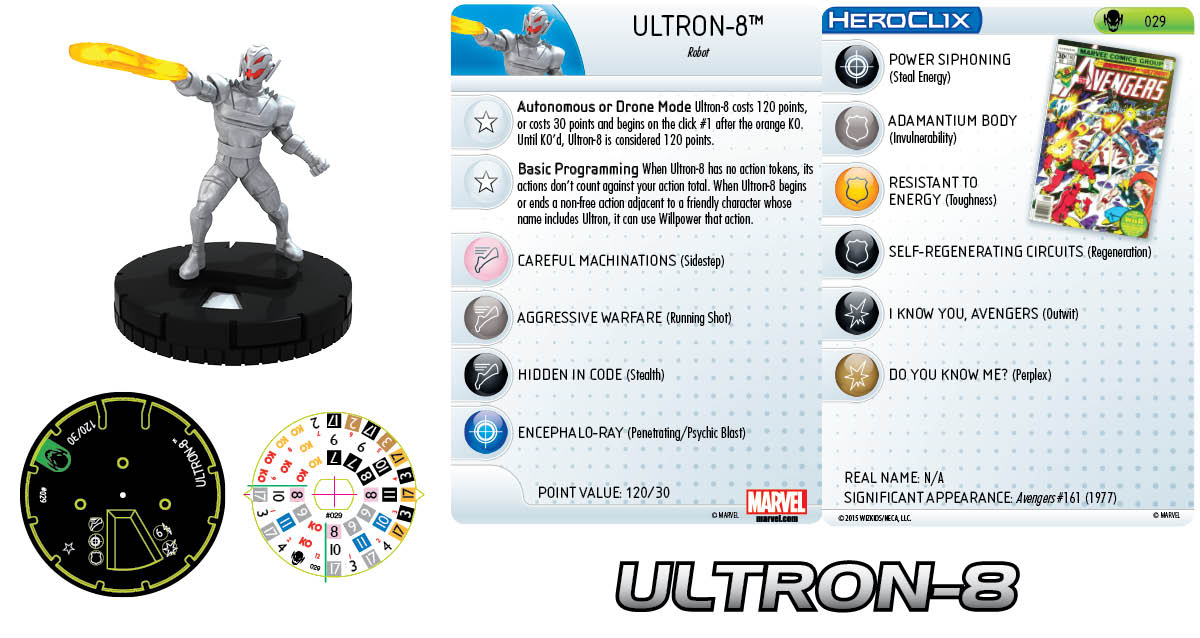 Marvel HeroClix: Age of Ultron SLOP- Ultron-8
