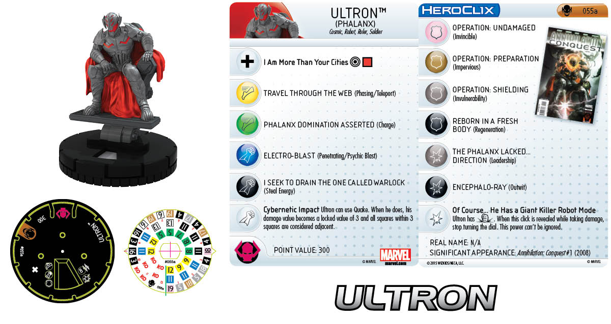 Marvel HeroClix: Age of Ultron SLOP- Ultron Phalanx