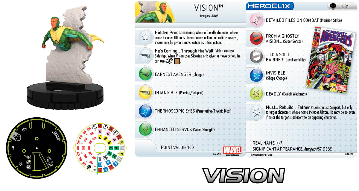 Marvel HeroClix: Age of Ultron SLOP- Vision