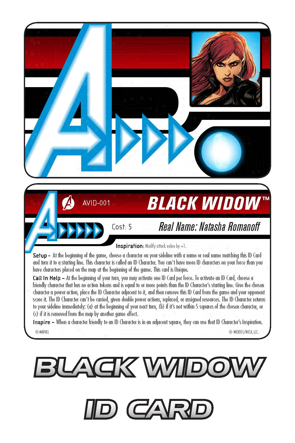 Marvel HeroClix: Avengers ID Card- Black Widow
