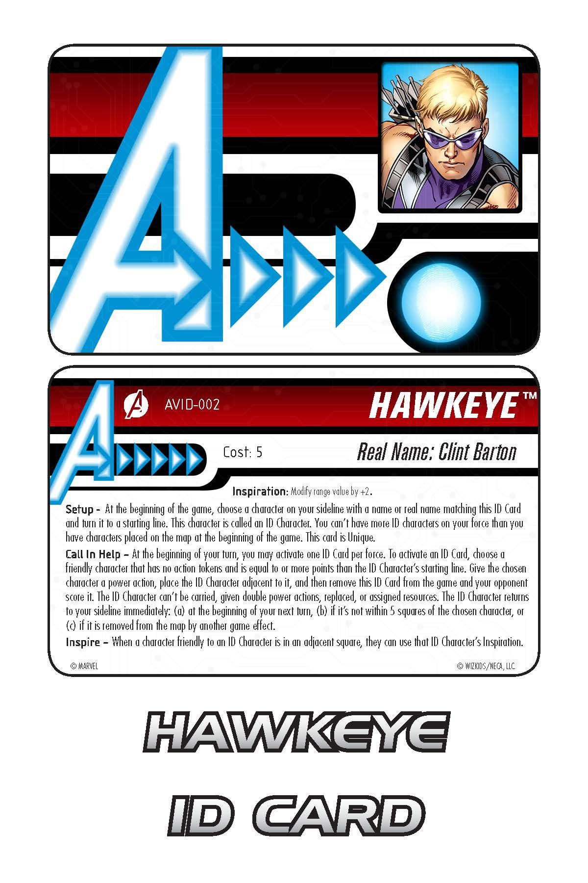 Marvel HeroClix: Avengers ID Card- Hawkeye