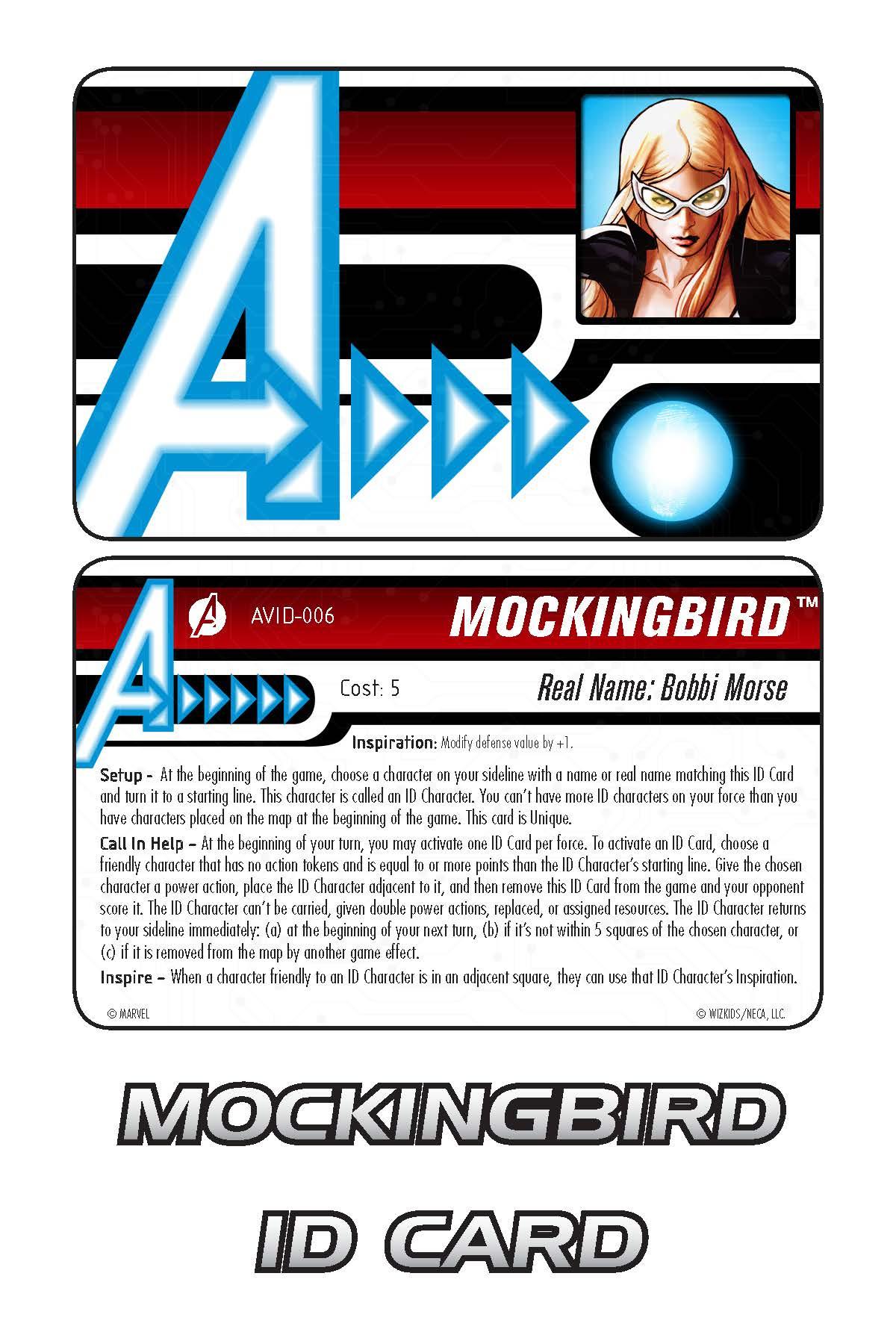 Marvel HeroClix: Avengers ID Card- Mockingbird