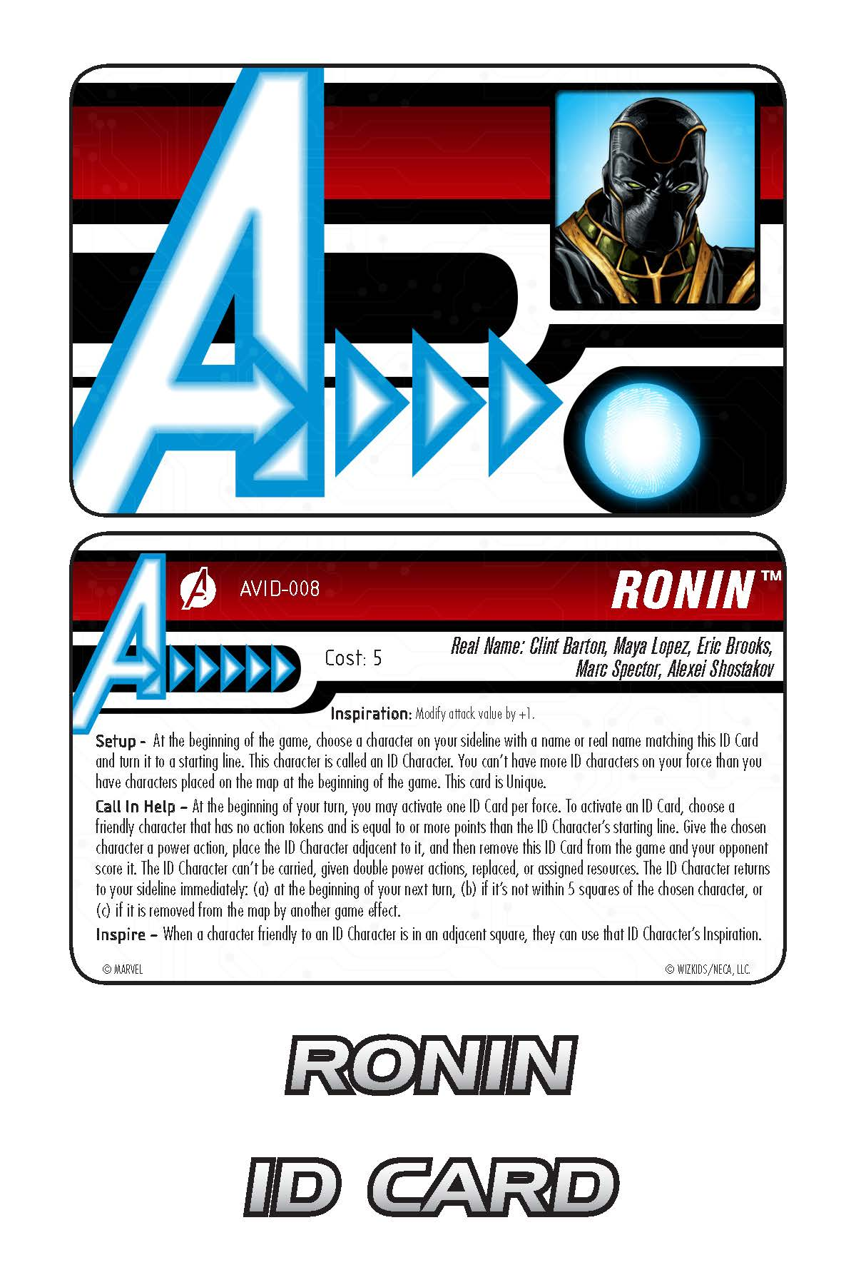 Marvel HeroClix: Avengers ID Card- Ronin