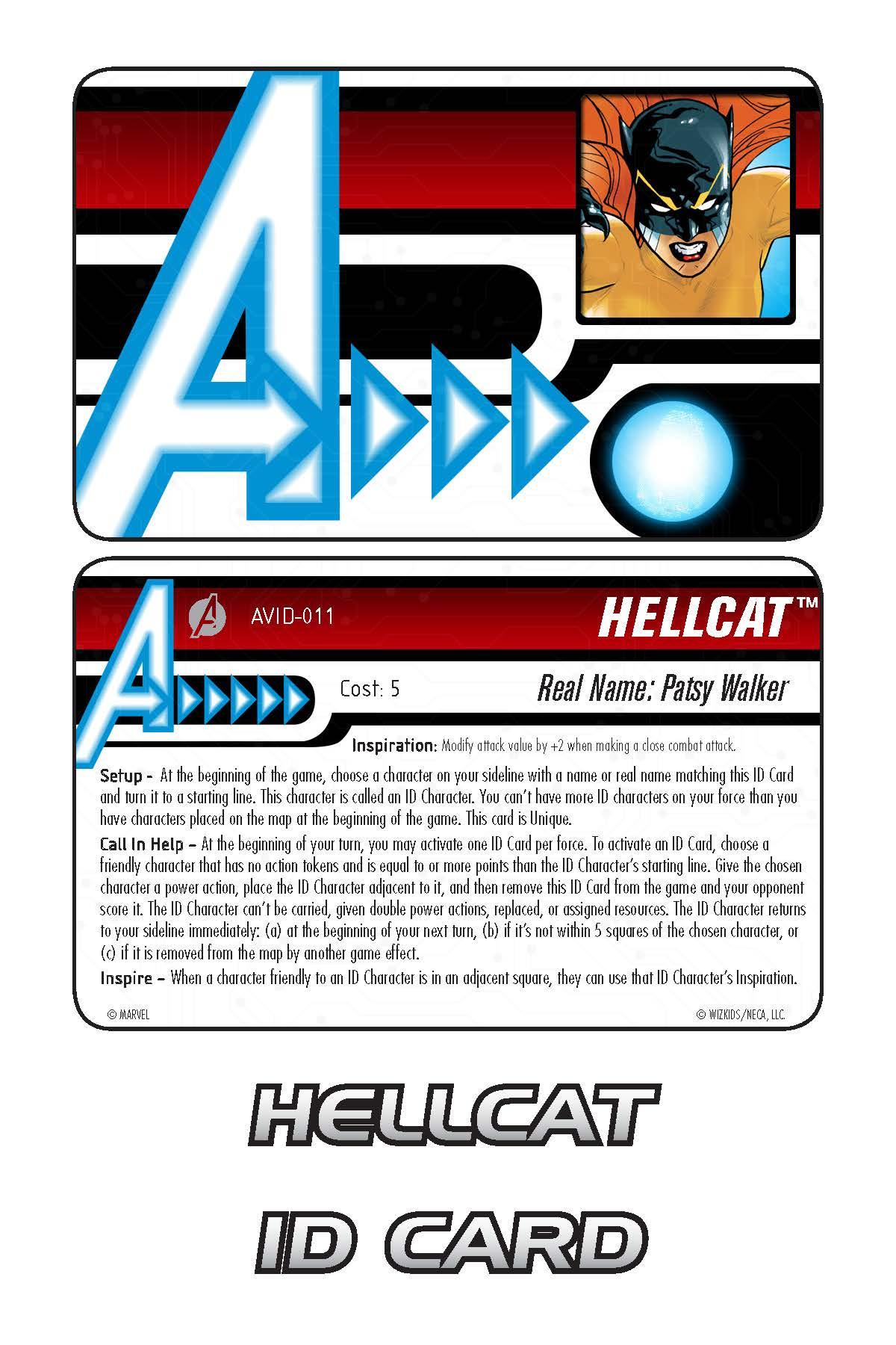 Marvel HeroClix: Avengers ID Card- Hellcat