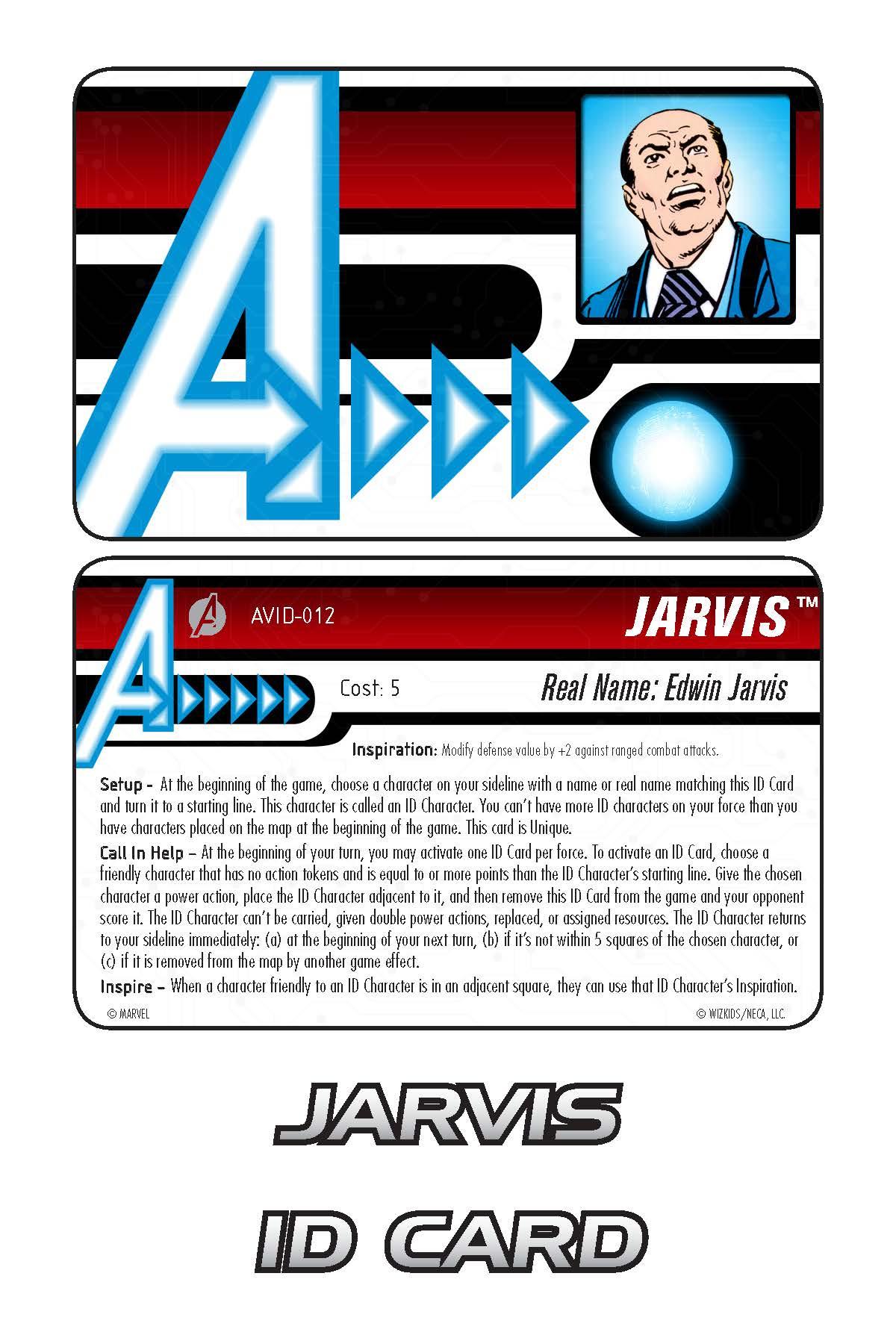 Marvel HeroClix: Avengers ID Card- Jarvis