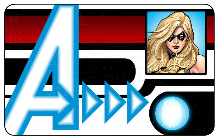Marvel HeroClix: Avengers ID Card- Ms. Marvel
