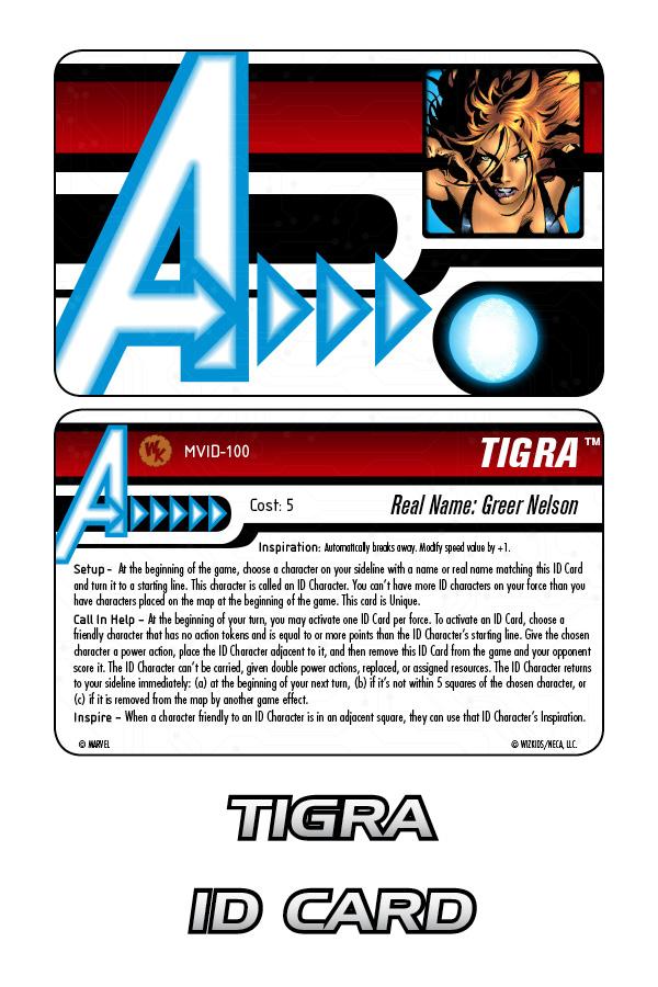 Marvel HeroClix: Tigra ID Card