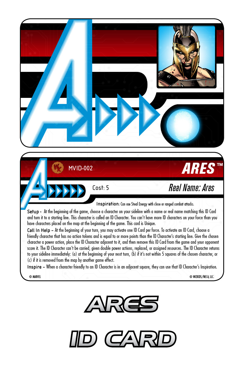 Marvel HeroClix: Avengers ID Card- Ares