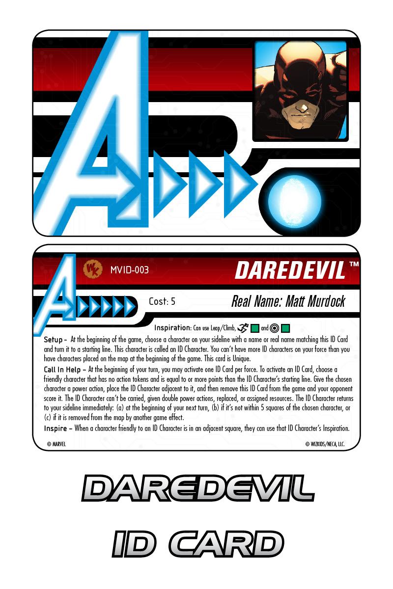Marvel HeroClix: Avengers ID Card- Daredevil