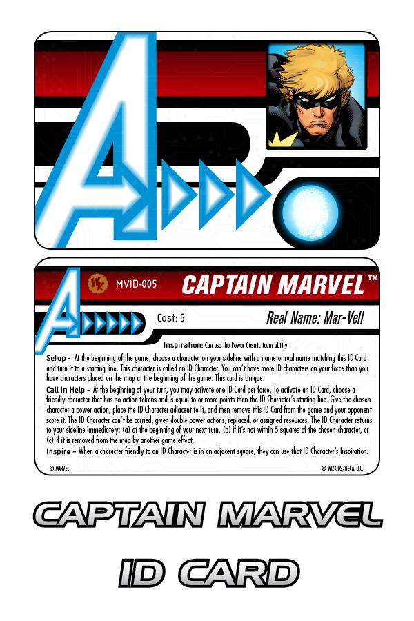Marvel HeroClix: Captain Marvel ID Card
