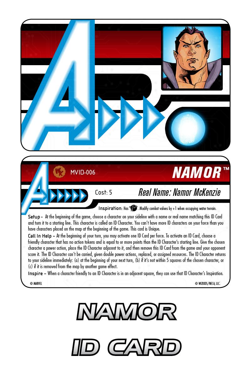 Marvel HeroClix: Avengers ID Card- Namor
